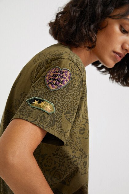 Shirt Animal Print 100% Baumwolle