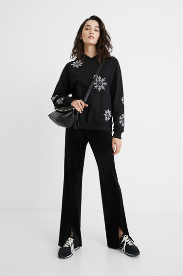 Sweatshirt with Swiss embroidery | Desigual