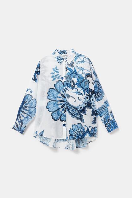 Oversized shirt met paisley