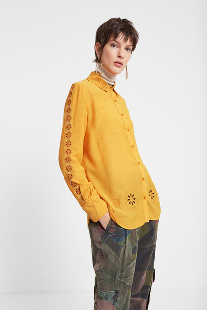 Embossed shirt and mandalas