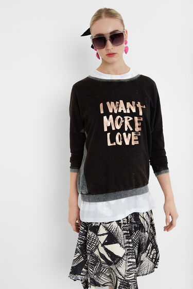 Love worn sweatshirt | Desigual