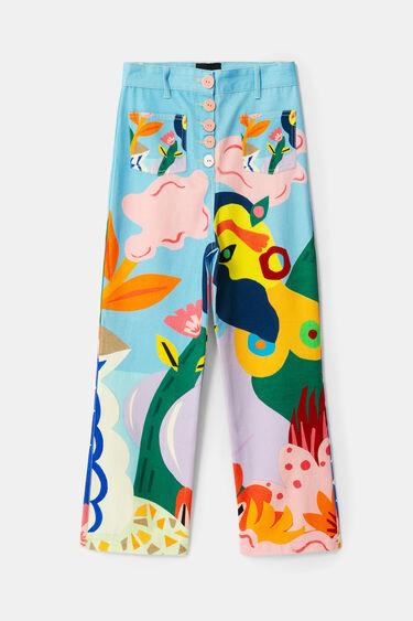 Spodnie rybaczki z nadrukiem | Desigual