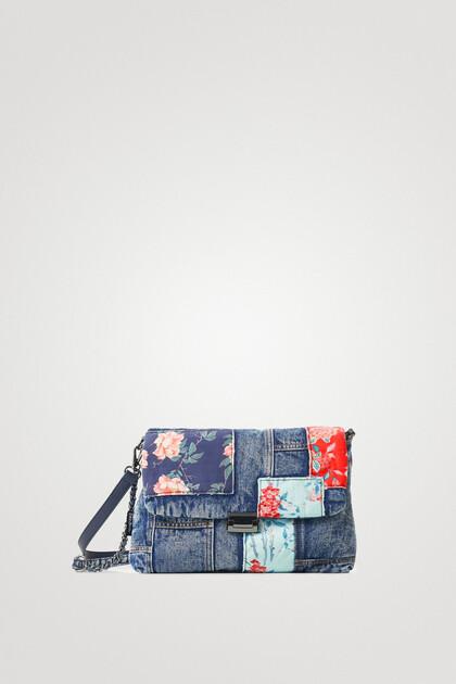 Sac à bandoulière patchwork jean