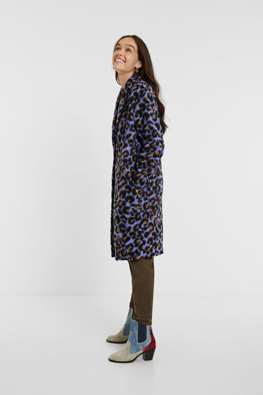 Straight coat animal print | Desigual