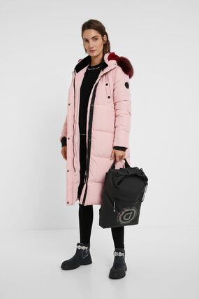 Long straight padded coat