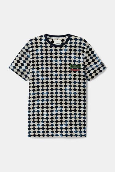 T-shirt à losanges bicolores | Desigual