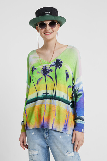 Fine Hawaiian print jumper