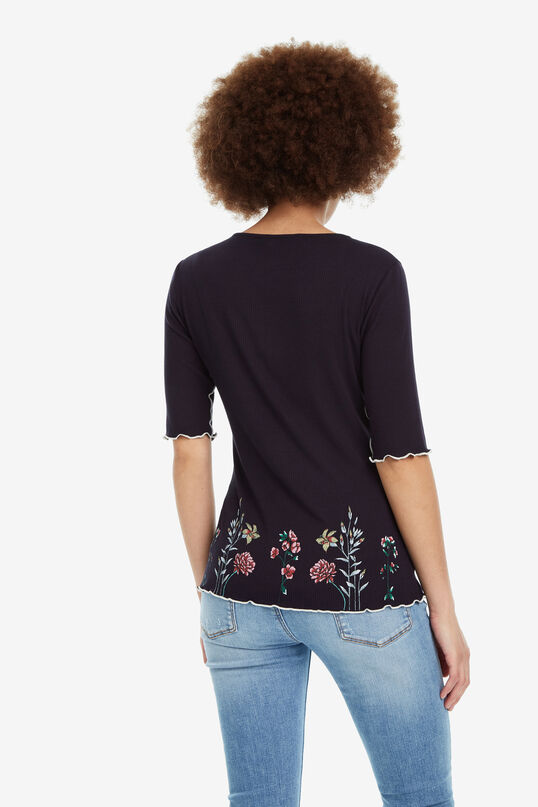 Striped Floral T-shirt Secret Garden | Desigual