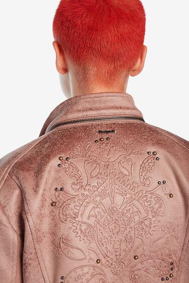 ライダースジャケット ピンク | Desigual