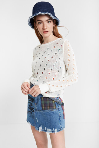 Multilayer knit jumper Carol