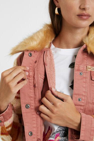 Bimaterial colour denim jacket | Desigual