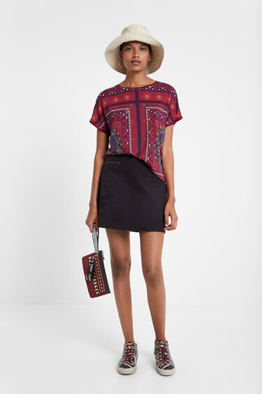 Ethnic frieze pattern T-shirt | Desigual