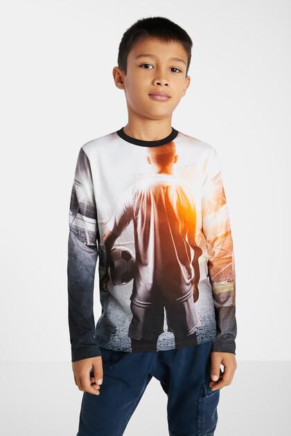 T-shirt coton print à photographie