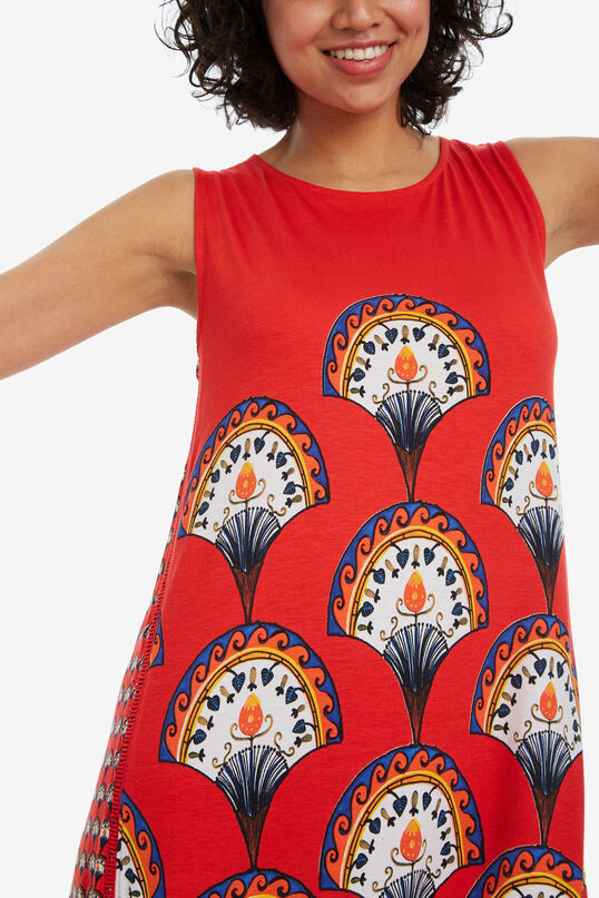 Fan-print sleeveless dress Vento   Desigual