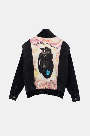 "Iconic jacket ""Una bomba de amor"" | Desigual"