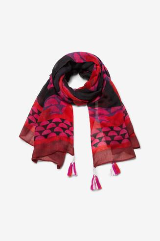 Rectangular daisy scarf