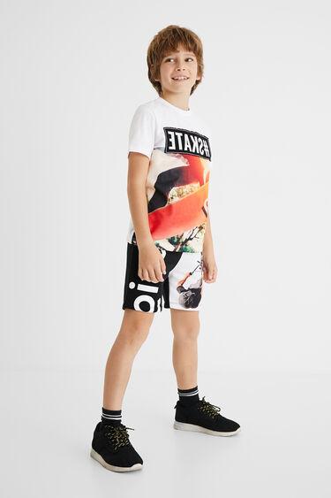 100% katoenen skate T-shirt | Desigual