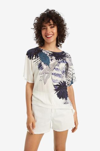 Weißes Shirt mit Blumen Wichitas
