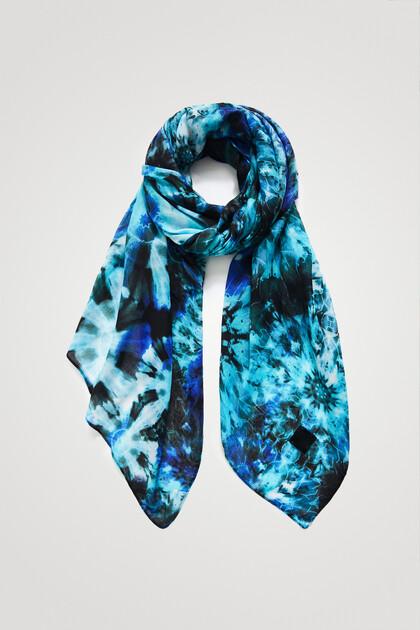 Rectangular bohemian print foulard