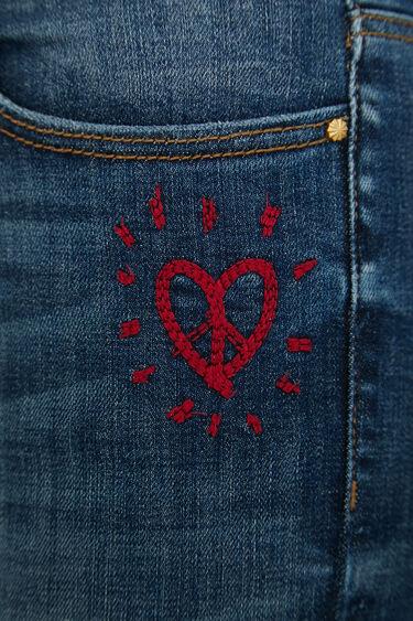 Skinny heart jeans | Desigual