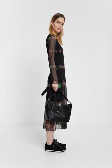 Vestido de duas camadas tule | Desigual