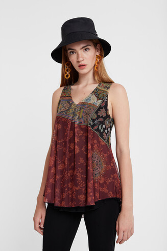 Boho double layer T-shirt