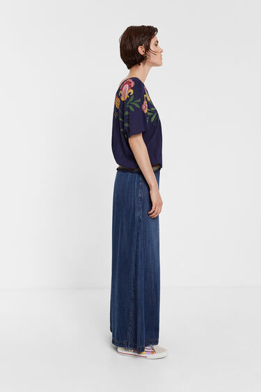 Multiposition tropical floral print blouse | Desigual