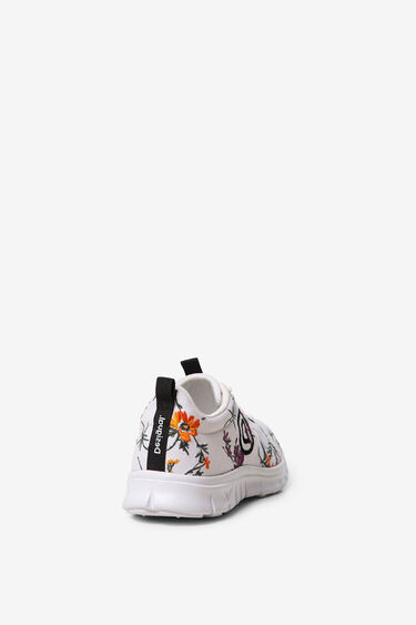 Sportieve sneakers met bloemenprint | Desigual
