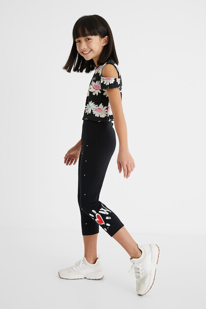 Slim leggings knee-length