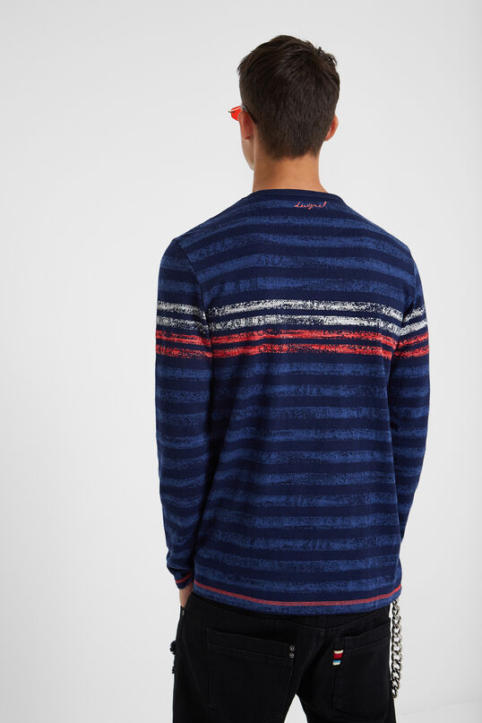 100% cotton striped T-shirt | Desigual