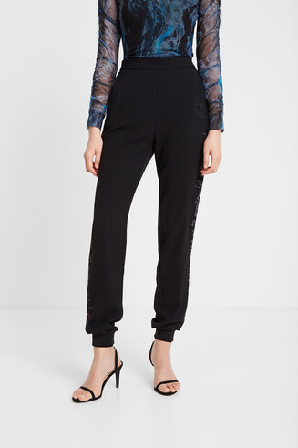 Tracksuit trousers sequins