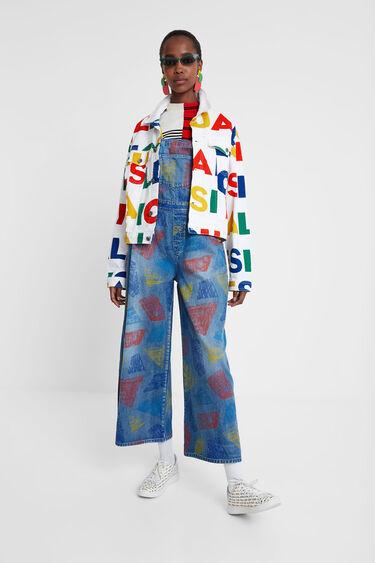 Jaqueta texana logomania | Desigual