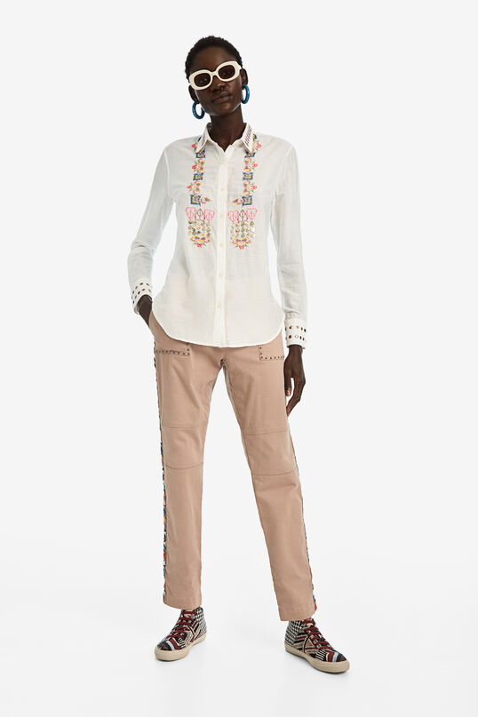 Embroidered silk shirt | Desigual