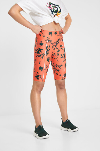 Leggings florals ciclista