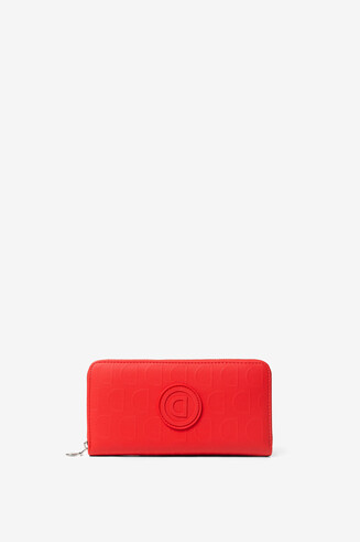 Red coin purse in logomania