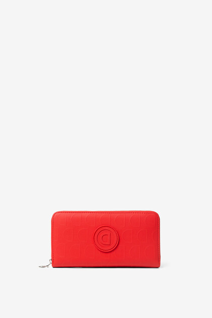 Red coin purse in logomania