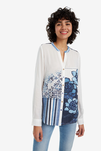 Camisa flores Sage