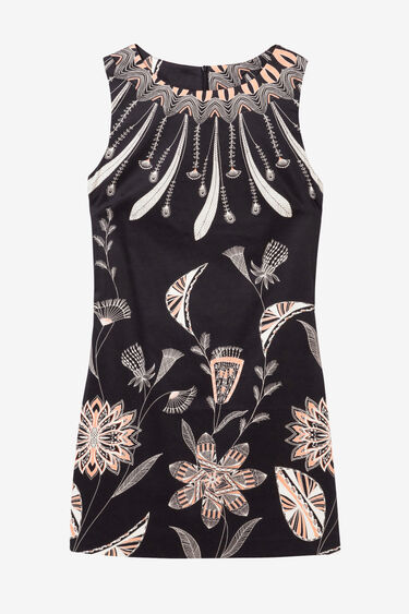 Feathers and Flowers Dress Kira   Desigual