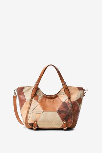 Sling bag geometric floral patch