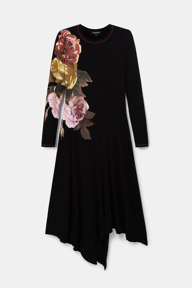 Vestido asimétrico flores | Desigual