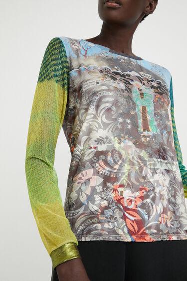 Slim fit arty T-shirt | Desigual