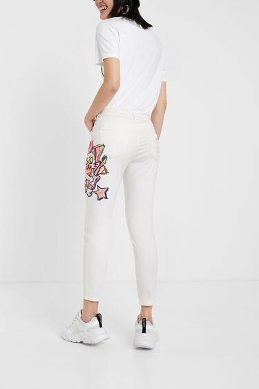 Pantalon skinny illustration | Desigual