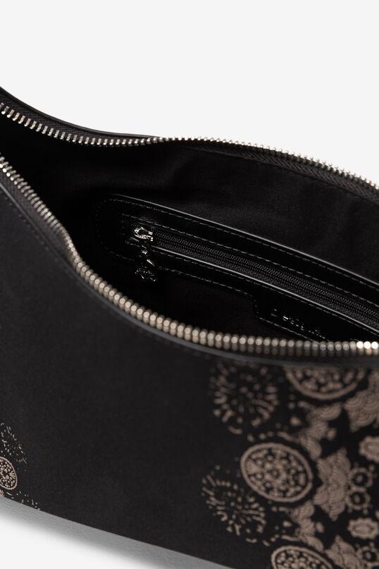 Two-tone zipped accordion pleat bag | Desigual