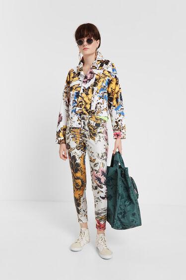 Jacket with Hawaiian floral print | Desigual