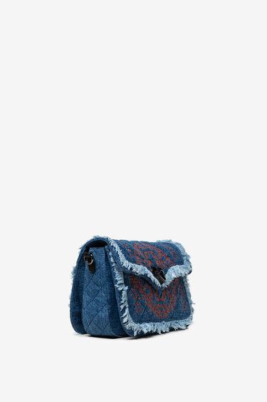 Little denim sling bag with fringe | Desigual