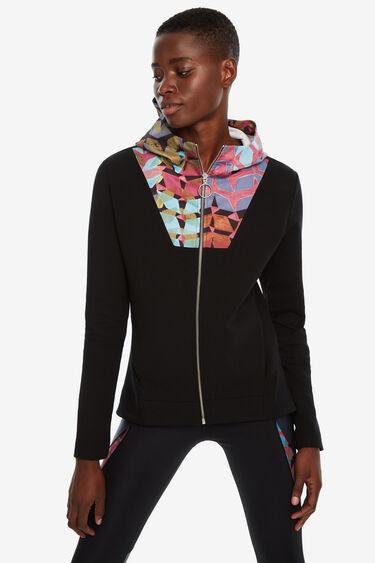 Slim print sweatshirt hood | Desigual