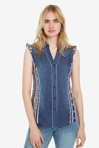 Sleeveless Denim Shirt Naha