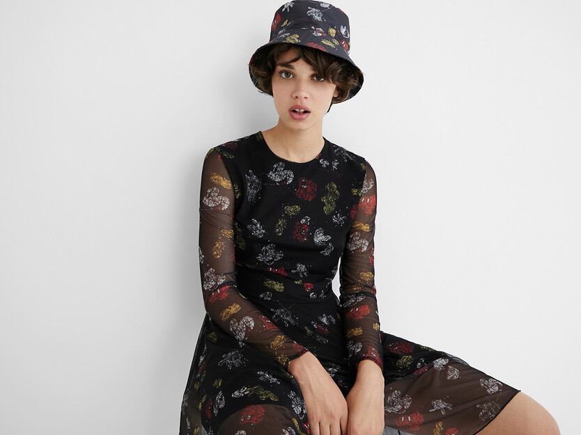 Flared short dress - Mickey Mouse