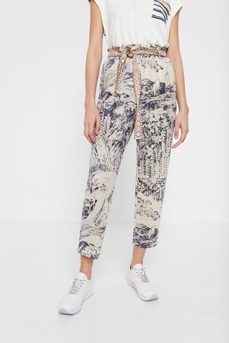 Pantalons japonesos fins al turmell i paperbag