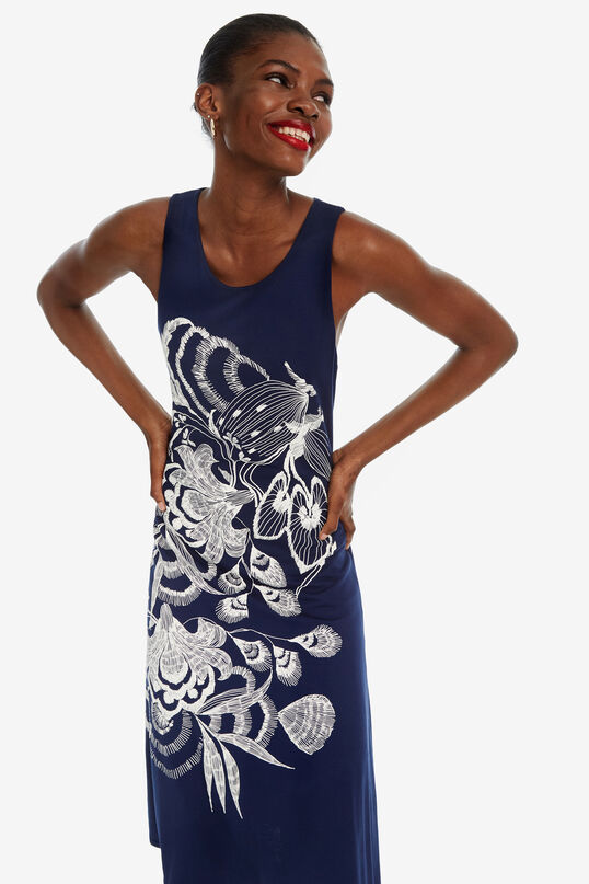 Asymmetrisches Kleid in Blau Wakiut | Desigual